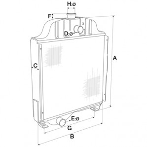 Radiator Case IH A190663, A184225, A184439, A184441, A184443